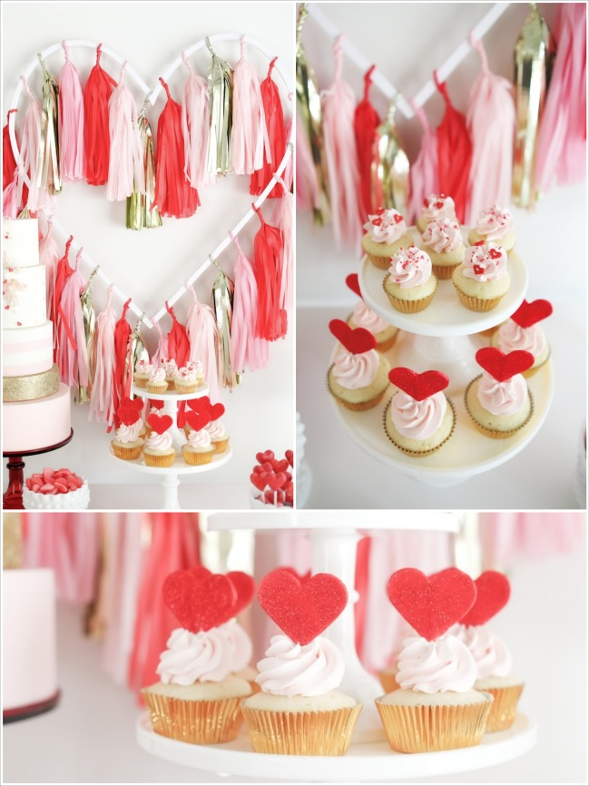 Be Mine Valentines Day Love Party via Karas Party Ideas KarasPartyIdeas Fotor Collage Festa com tema Amor