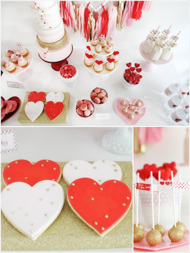 Be Mine Valentines Day Love Party via Karas Party Ideas KarasPartyIdeas Fotor Collage3 Festa com tema Amor