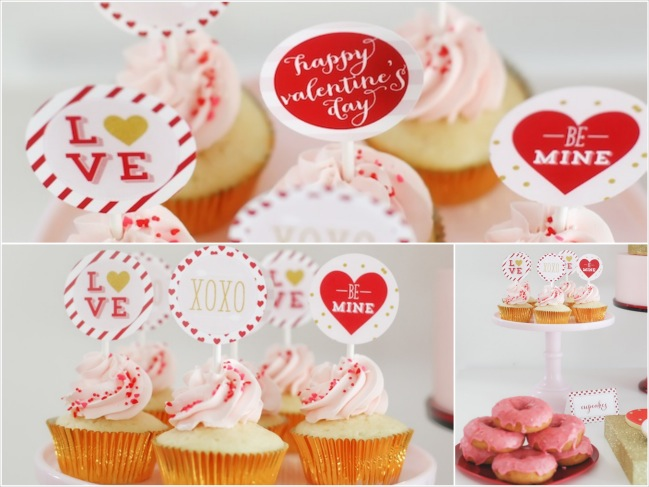 Be Mine Valentines Day Love Party via Karas Party Ideas KarasPartyIdeas Fotor Collage4 Festa com tema Amor