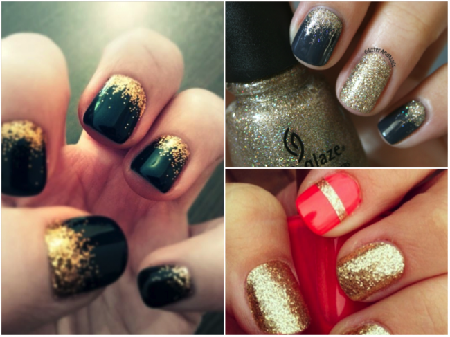 gold-ombre-nails